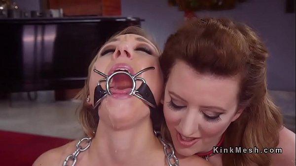 Bondage Ring Knebel Kehle Fick